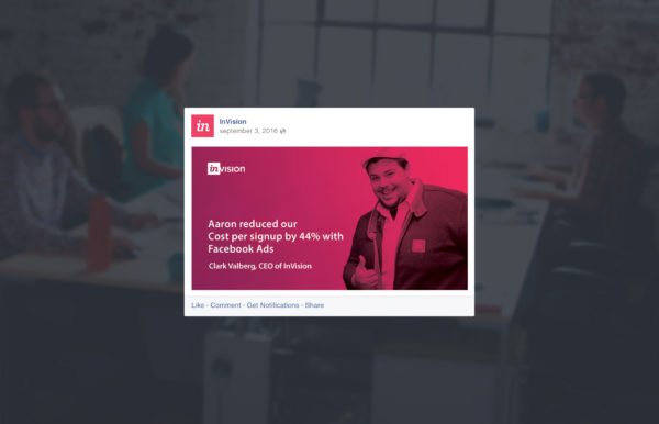 Invision Facebook Ads